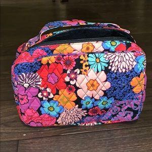 Vera Bradley large makeup travel bag